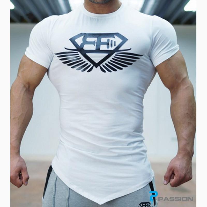 Áo tập gym nam Body Engineers A04 (màu trắng)