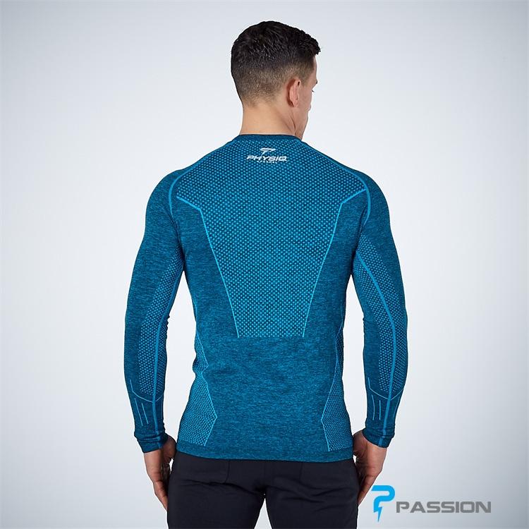 Áo tập gym nam dài tay Physiq Apparel A104 màu xanh
