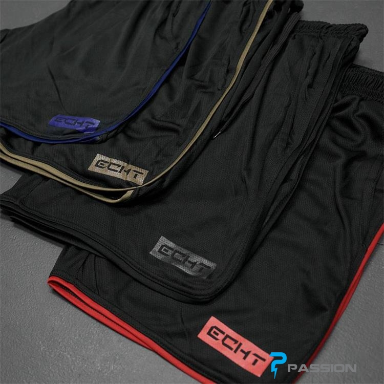Quần đùi tập gym nam ECHT Z26 đen xọc đỏ
