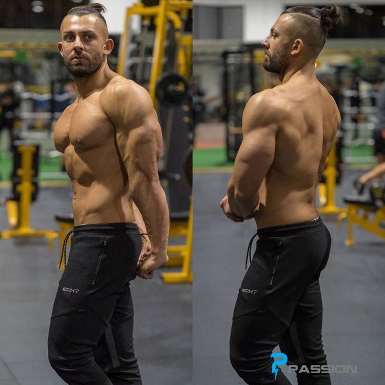 Quần tập gym nam ECHT cao cấp cho nam Z55 màu đen
