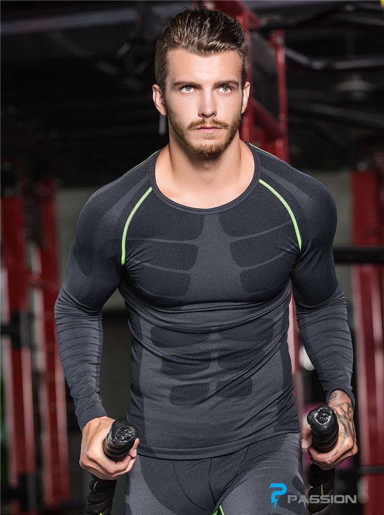 Áo bó body tập gym nam dài tay A05