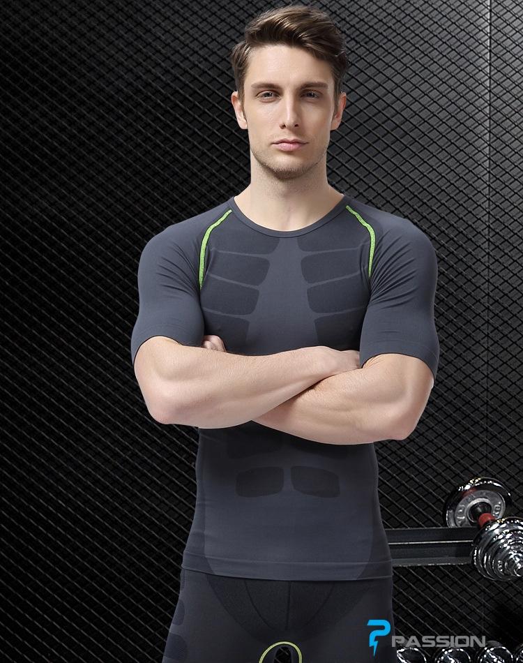 Áo bó body tập gym nam ngắn tay A23
