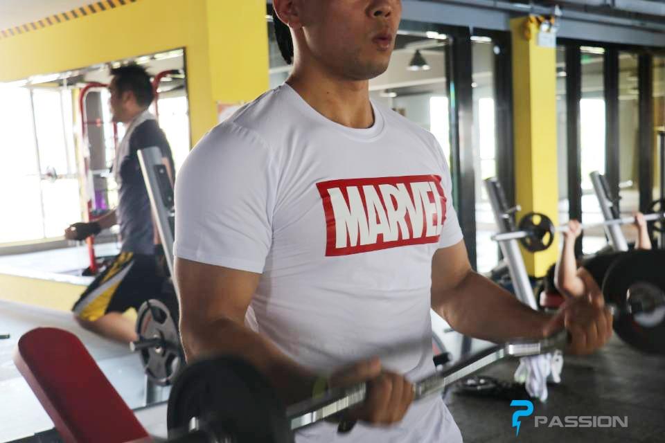 Áo body tập gym nam Marvel cao cấp A1106