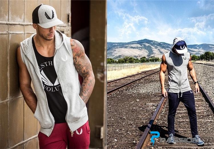 Áo khoác ba lỗ Gym nam Aesthetic revolutioncó mũ đẹp A35