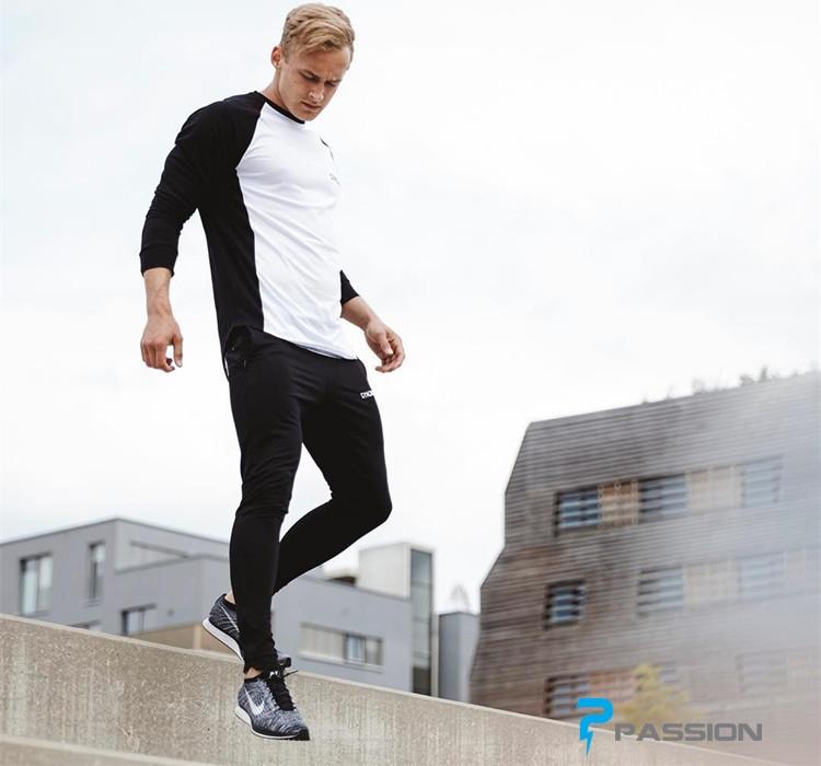 Áo tập gym nam Gym Junky dài tay A64 màu trắng