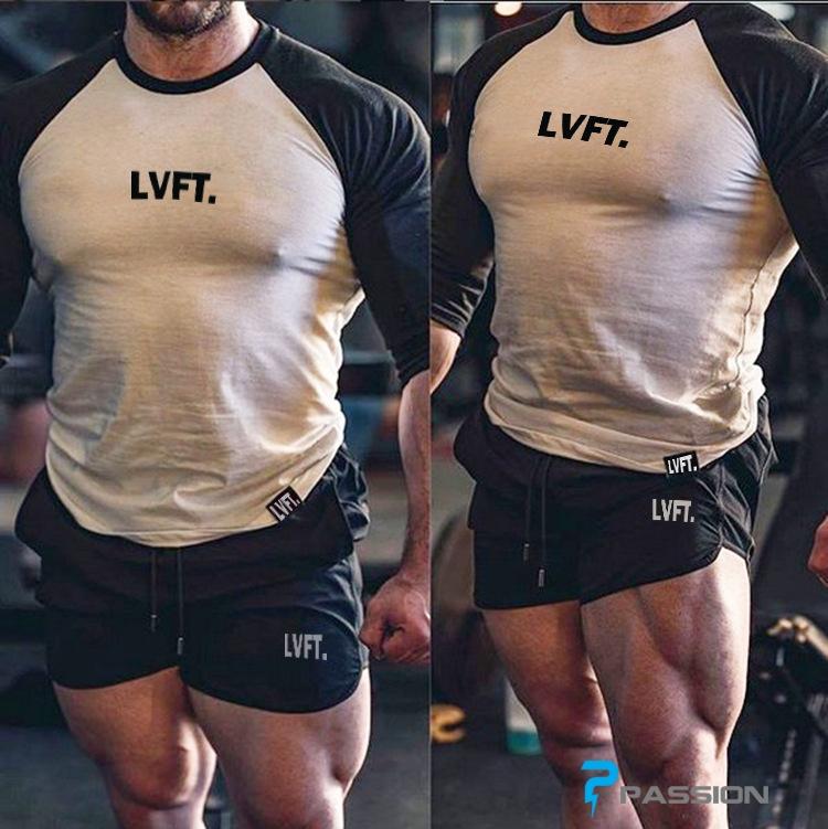 Quần lửng  tập gym LVFT cao cấp cho nam Z71 (màu xanh lính)