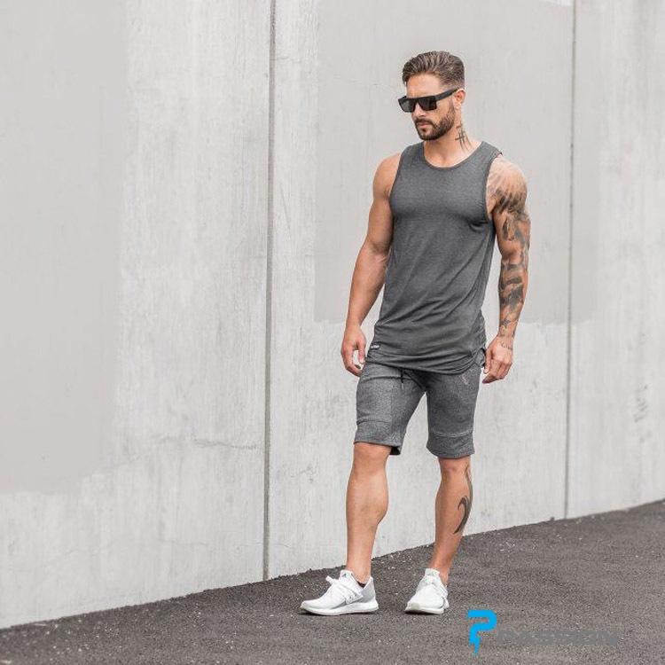 Quần short tập gym nam ASRV Z22 (đen)