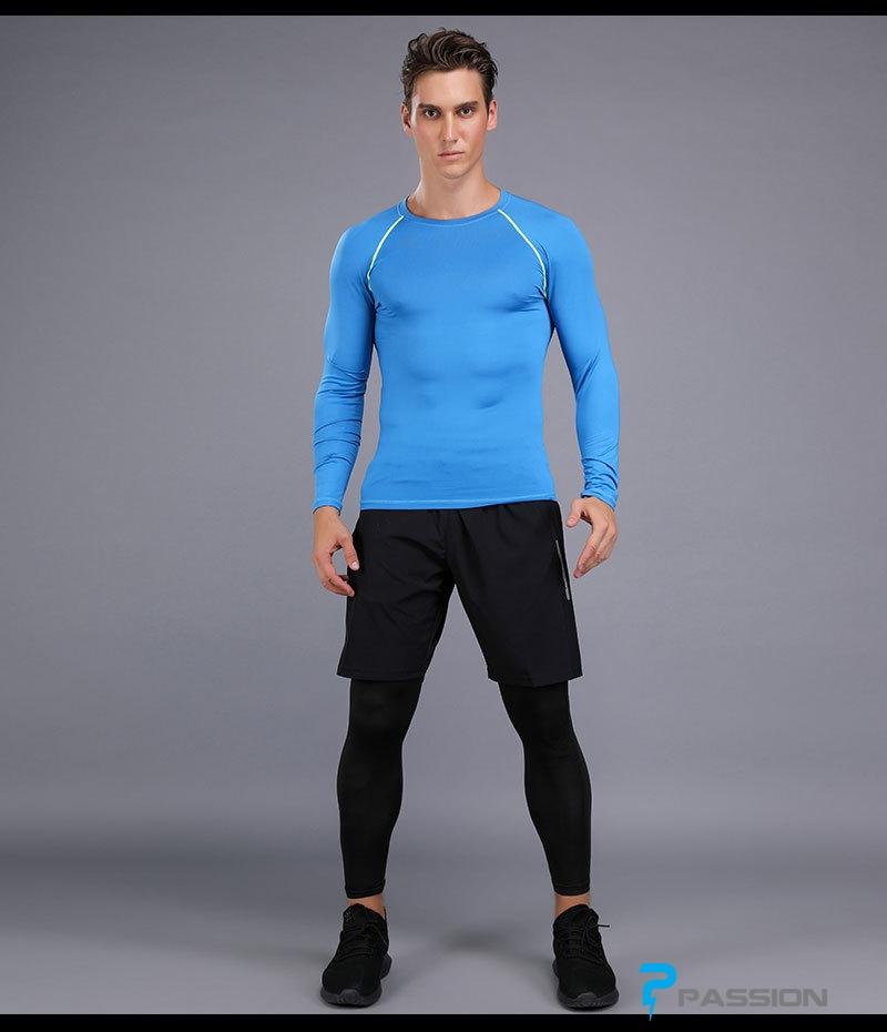 Áo bó body tập gym nam dài tay A108