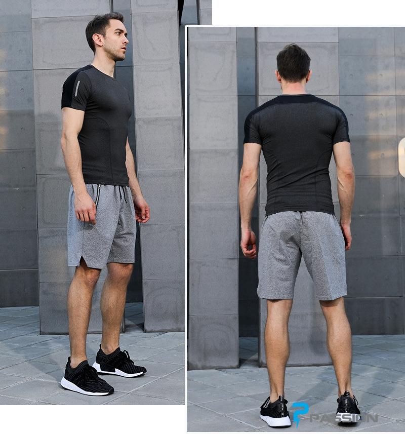 Áo body thể thao gym nam cao cấp A107 (màu đen)