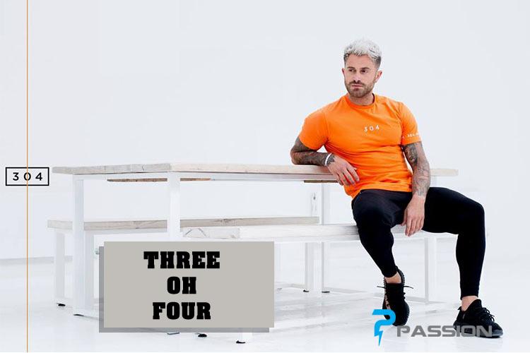 Áo thun body tập gym nam THREE OH FOUR A365 (đen)