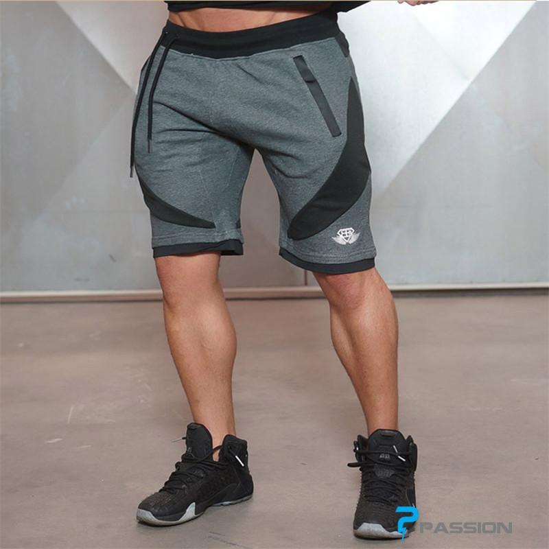 Quần short tập gym nam Body Engineers Z02 (màu ghi)