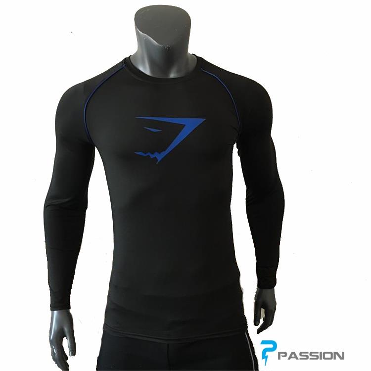 Áo tập gym  nam dài tay Gymshark 2018 A20 ( đen )