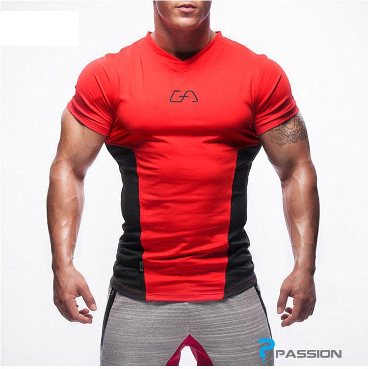 Áo tập gym nam Gym Aesthetics  A71 cao cấp (màu đỏ)