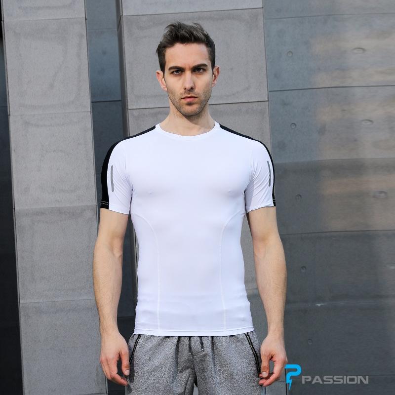 Áo body thể thao gym nam cao cấp A107 (màu trắng)
