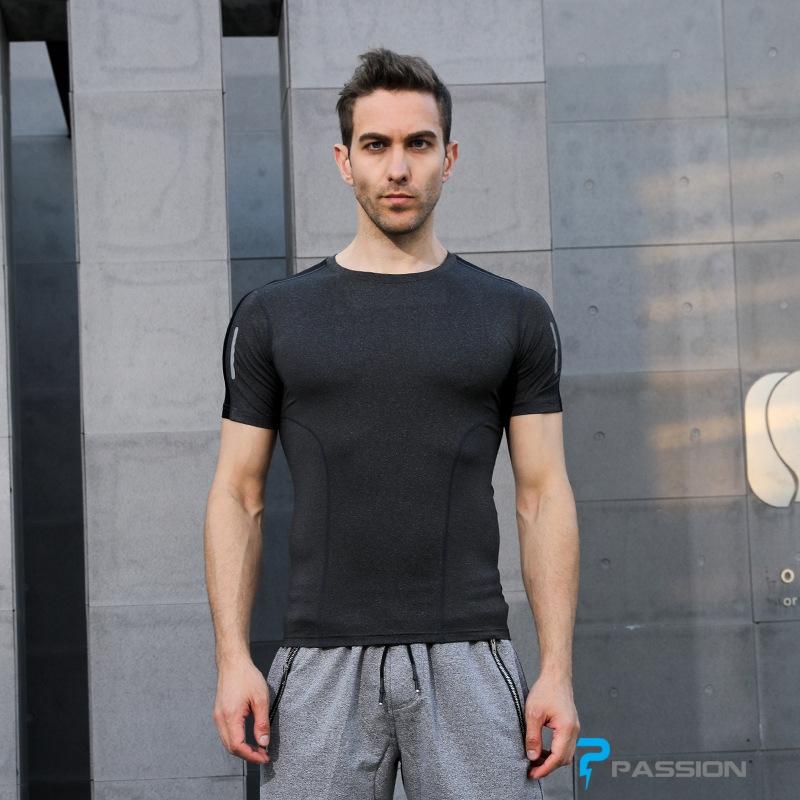 Áo body thể thao gym nam cao cấp A107 (màu xám)
