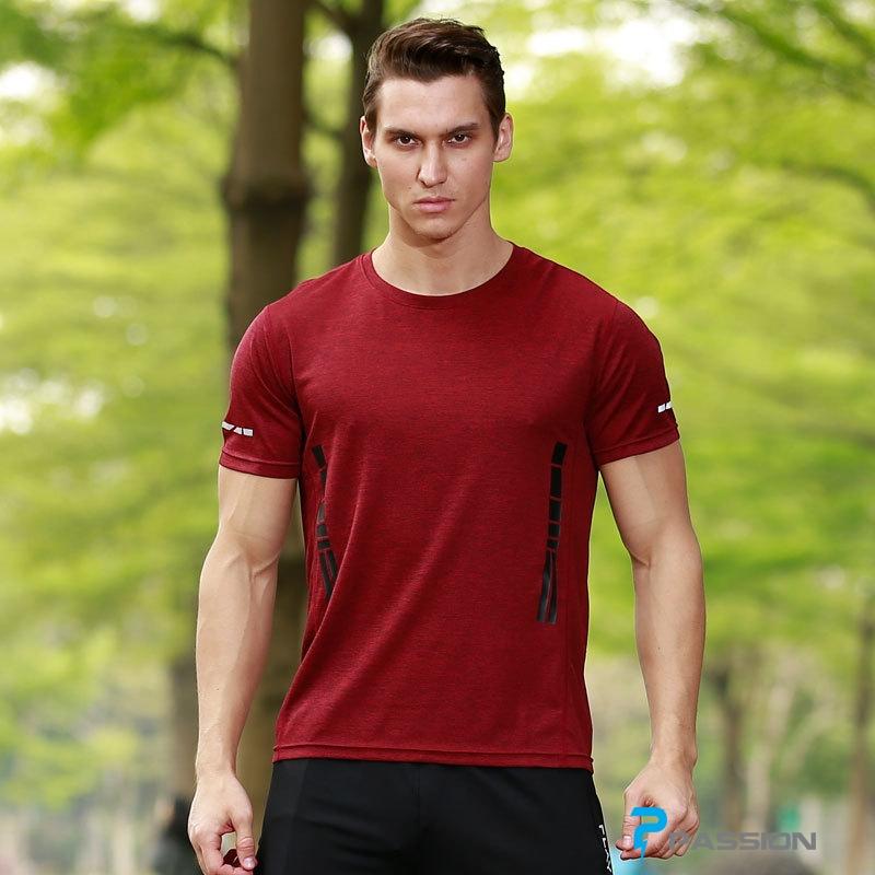 Áo thun thể thao nam tập gym cao cấp A110 (màu đỏ)