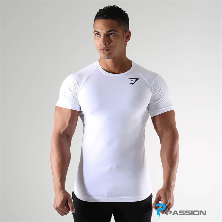 Áo tập gym nam Gymshark A30 màu trắng