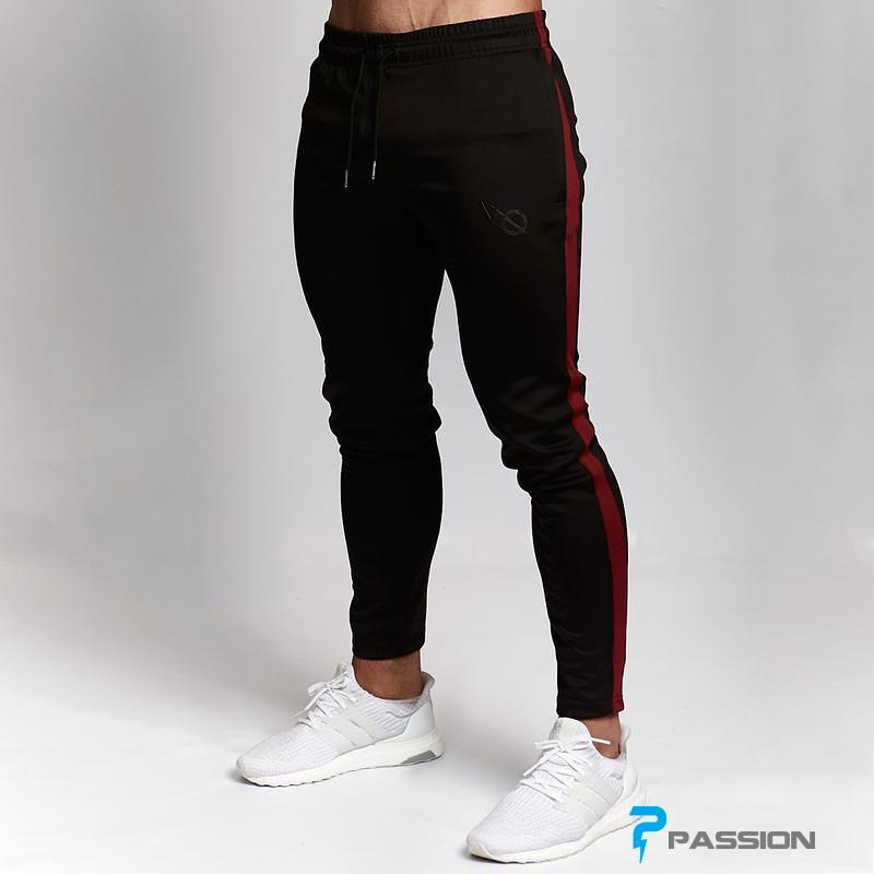 Quần Dài Tập Gym Nam Vanquish Z109 (Màu đen xọc đỏ)