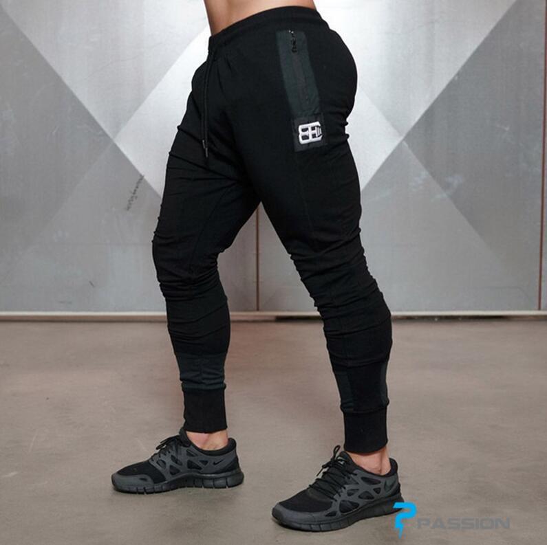 Quần jogger tập gym nam Body Engineers Z72 màu đen