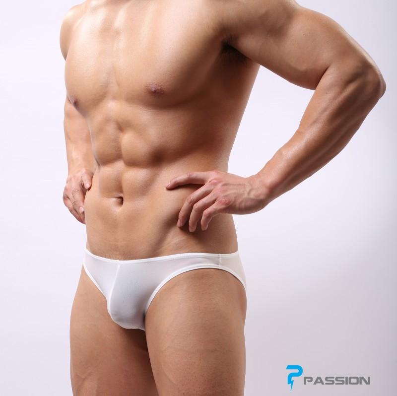 Quần lót nam Bikini thun lạnh đẹp sexy khiêu gợi QL230 (màu trắng)