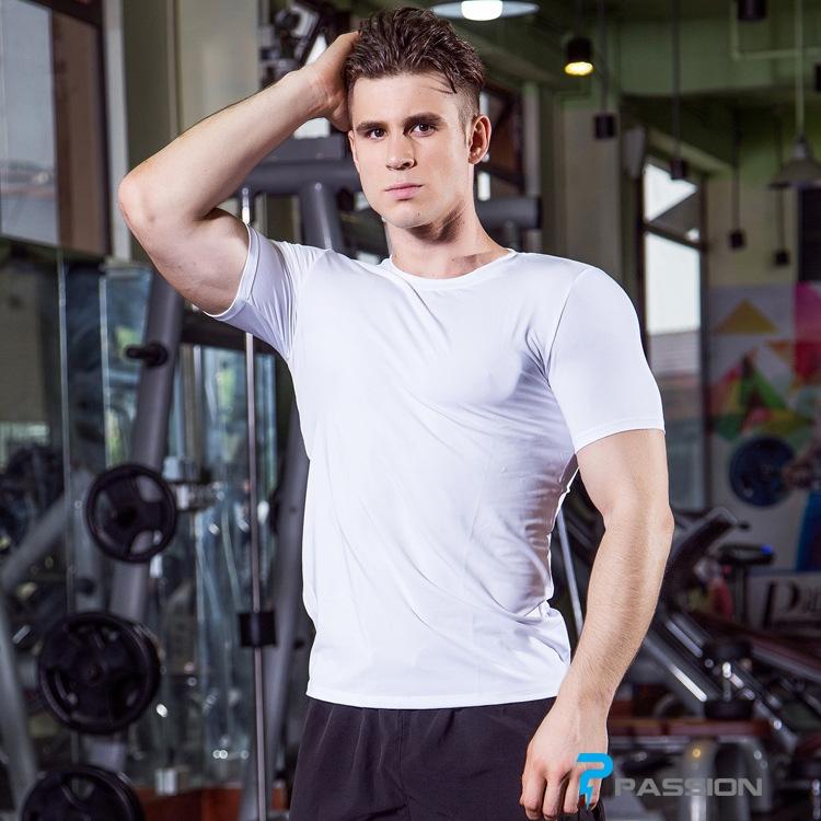 Áo thun body tập gym dành cho nam A302 (màu trắng)