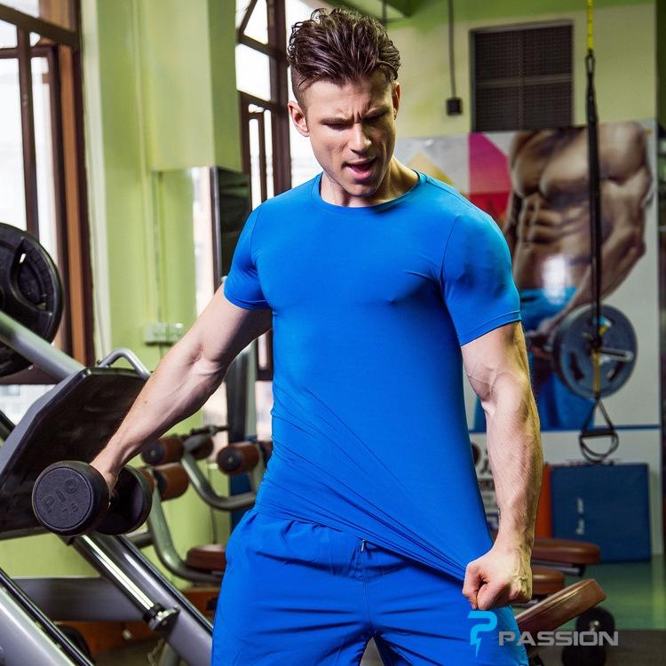 Áo thun body tập gym dành cho nam A302 (màu xanh)
