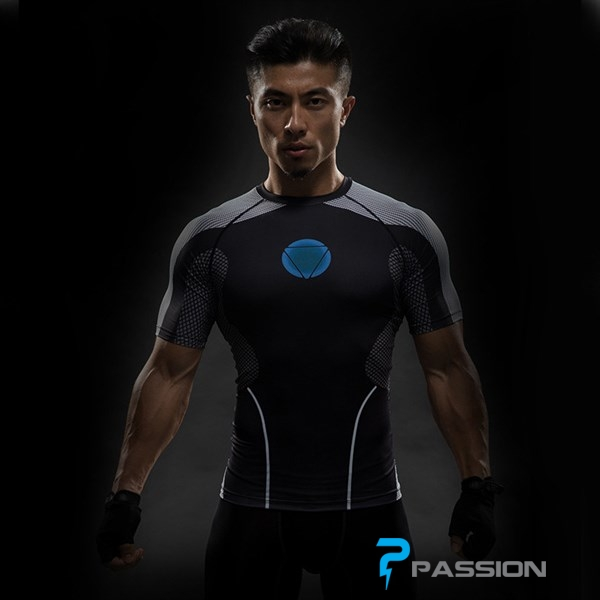 Áo body tập gym Iron Man A93