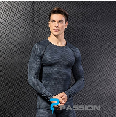 Áo body tay dài tập gym nam A85
