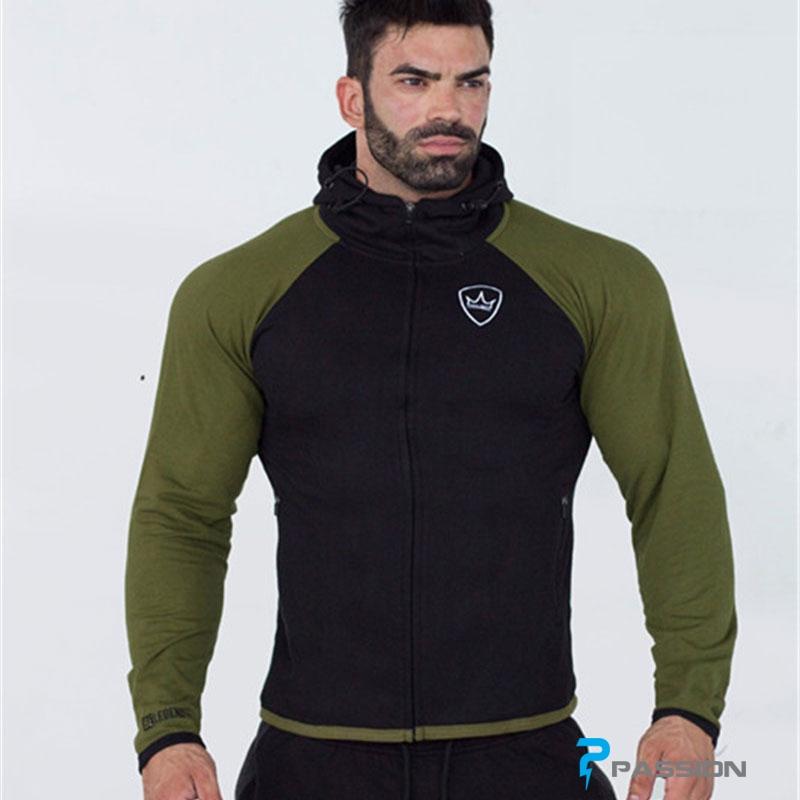 Áo khoác thể thao tập gym BELEGEND A89 đen xanh rêu