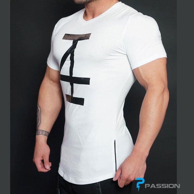 Áo tập gym nam 4invictus A84 màu trắng
