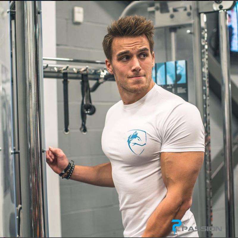 Áo tập gym nam body ngắn tay cao cấp A300