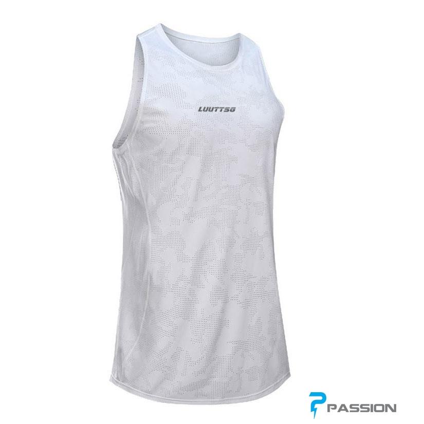 Áo tập gym nam Tanktop Uabrav A115 (màu trắng)
