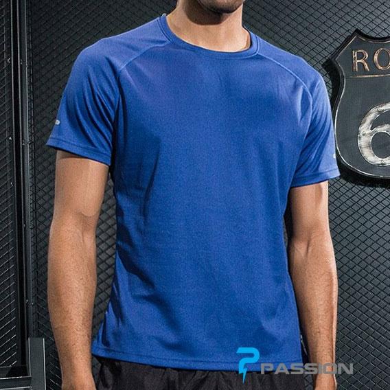 Áo thun tập gym nam tay ngắn Uabrav A116 (xanh dương)