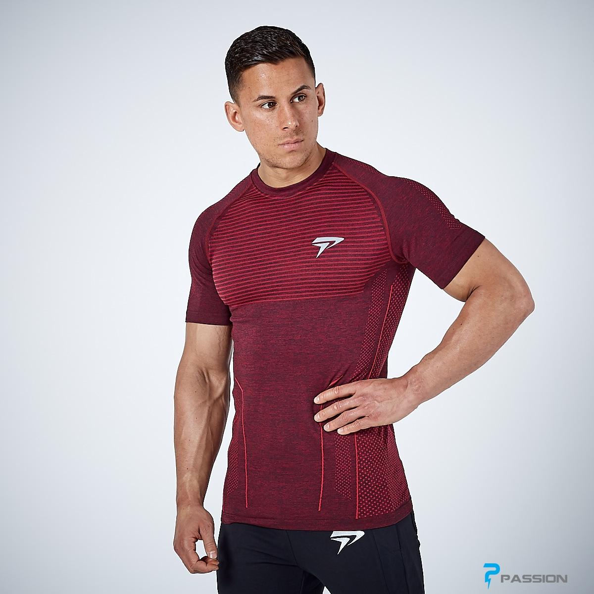 Áo thun body tập gym cho nam Physiq A58 (màu đỏ đô)