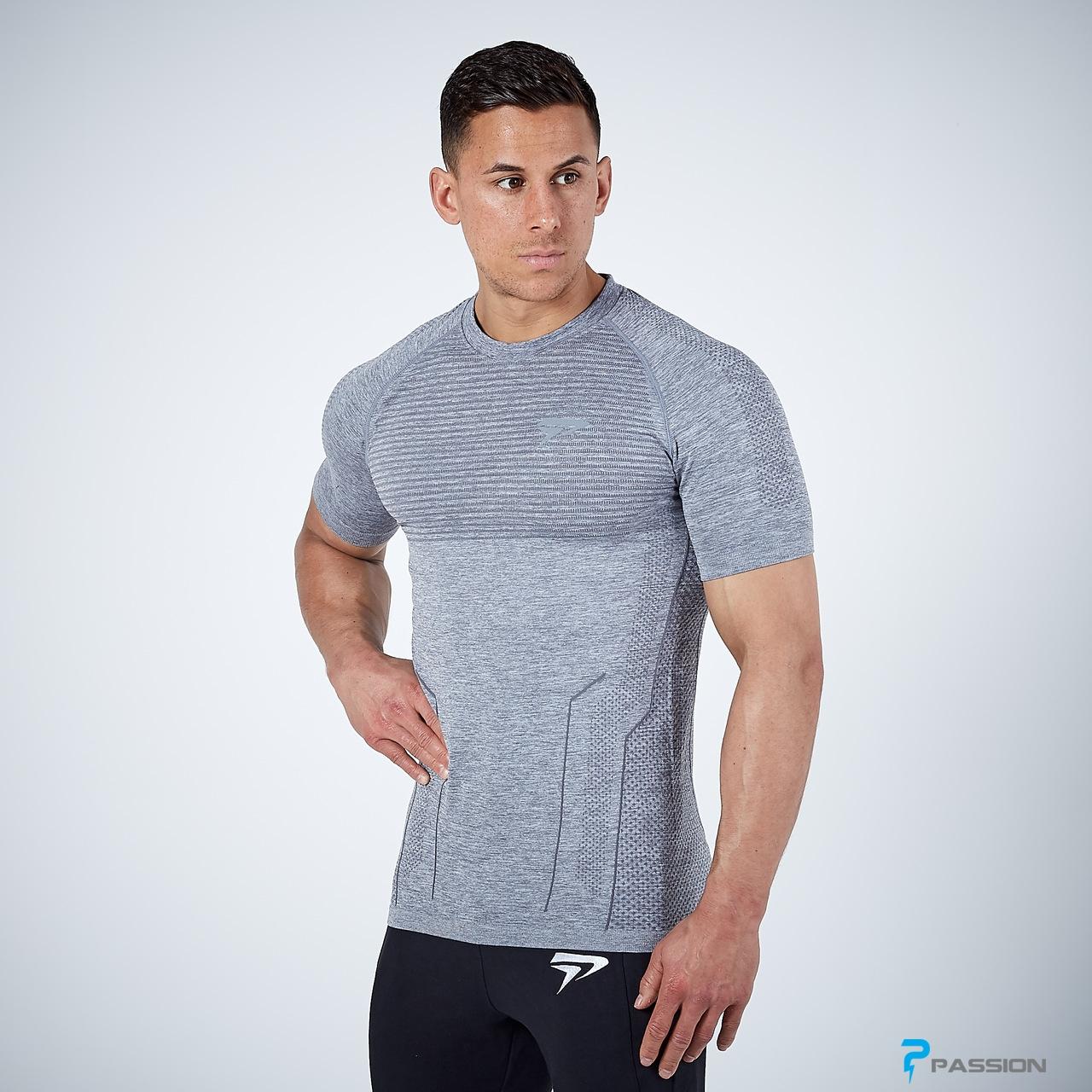 Áo thun body tập gym cho nam Physiq A58 (màu xám)