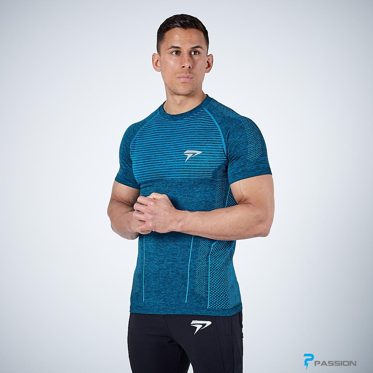 Áo thun body tập gym cho nam Physiq A58 (màu xanh dương)