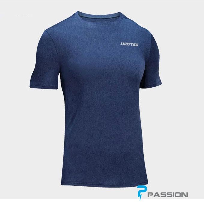 Áo thun thể thao tập gym nam A113 (màu xanh dương đậm)