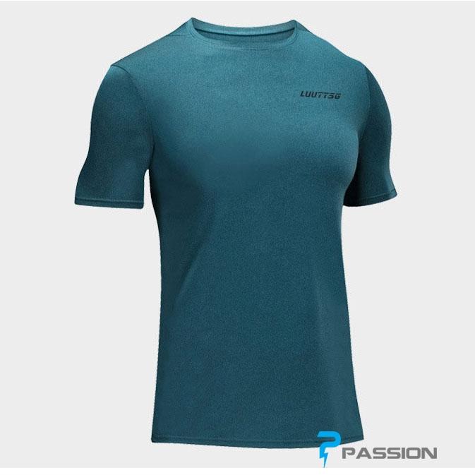 Áo thun thể thao tập gym nam A113 (màu xanh dương nhạt)