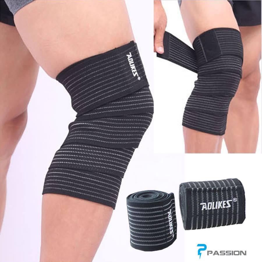 Băng quấn bảo vệ đầu gối chơi thể thao,tập gym Aolike PK54