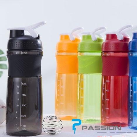 Bình lắc Shaker đựng nước - pha sữa tập GYM 760ML PK36