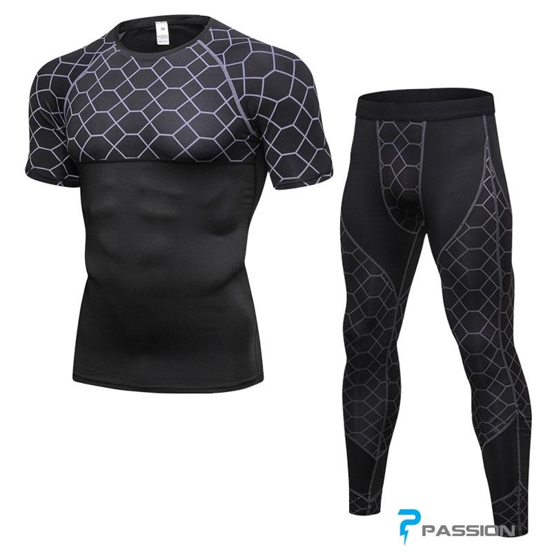 Combo quần legging + áo bó cụt tay tập gym hottrend 2018 CB02
