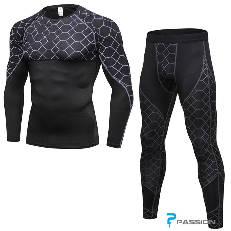Combo quần legging + áo bó dài tay tập gym hottrend 2018 CB01