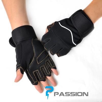 Găng tay tập gym có quần cổ tay G09 đen