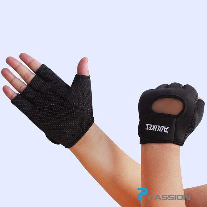 Găng tay tập tạ nam nữ AOLIKES G04 đen