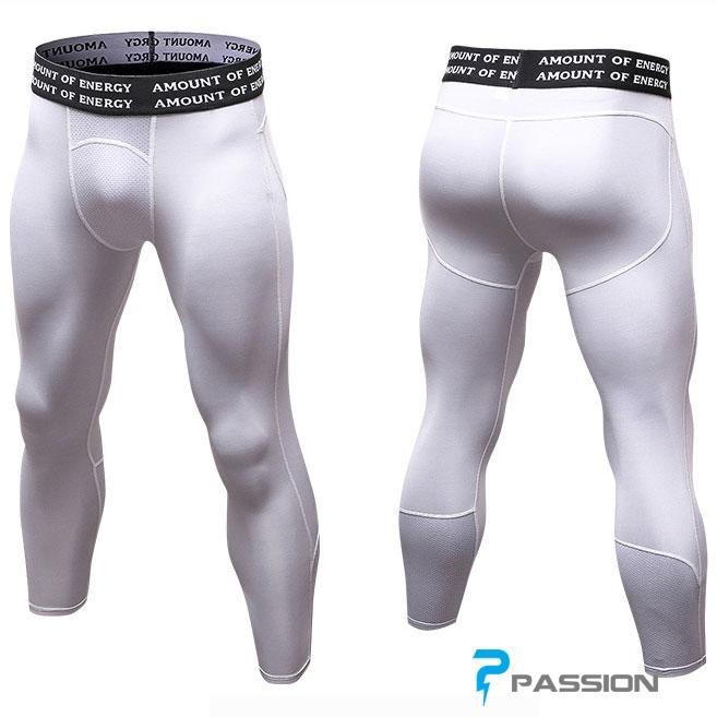 Quần legging 3/4 nam trắng trơn Z82