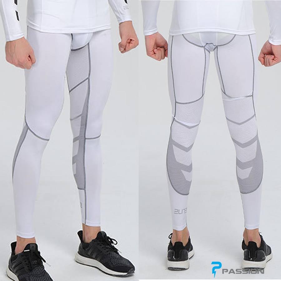 Quần legging tập gym nam cao cấp pro combat Z57 (màu trắng)