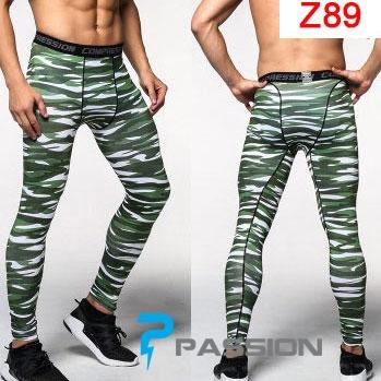 Quần legging tập gym nam z89 rằn ri