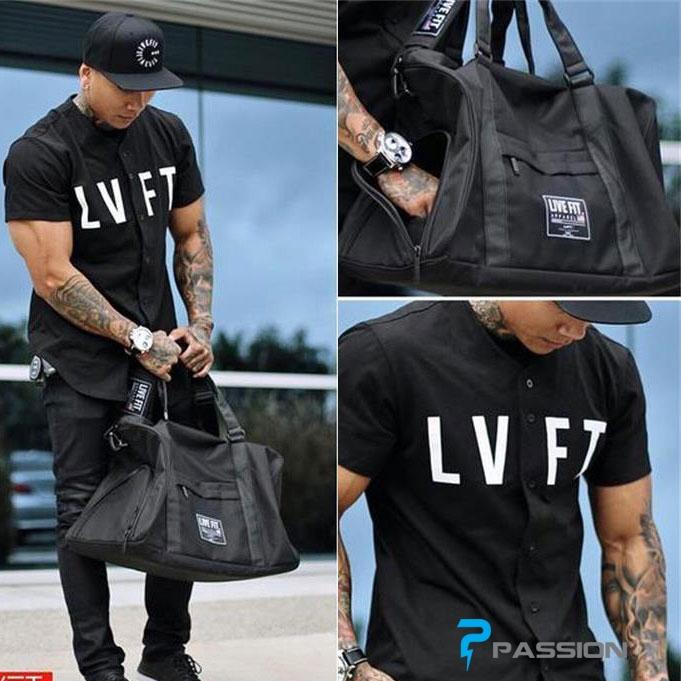 Túi tập gym Live Fit PK30 (màu đen)