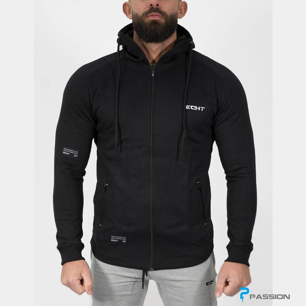 Áo khoác gym nam cao cấp ECHT A307 (màu đen)