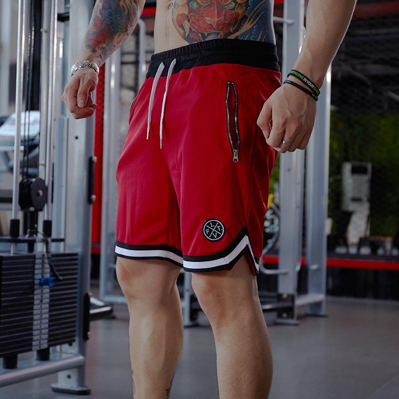 Quần short tập gym nam LVFT Z76 (màu đỏ)